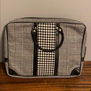 Herringbone wool laptop case